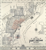 <h5>Port Arthur, 1943</h5><p>Image courtesy of City of Thunder Bay Archives, Fire Insurance Maps Collection</p>