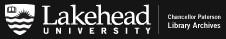 Lakehead University Library Archives